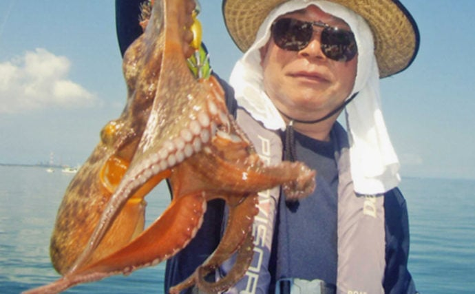 人気爆発エギタコ釣行レポート 1kg頭マダコ8尾と好調継続【石川丸】