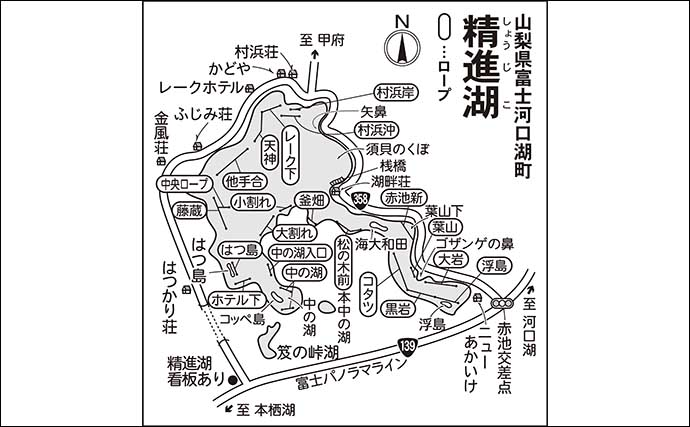 今週のヘラブナ推薦釣り場【山梨県・精進湖】