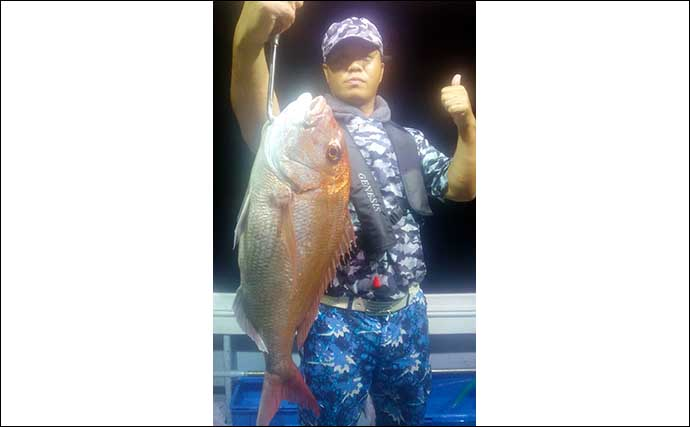 【玄界灘】沖釣り最新釣果 タイラバ&イカ泳がせで良型マダイが連発