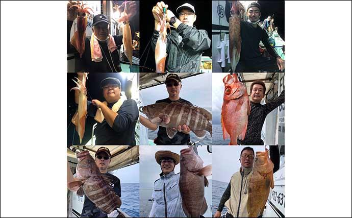 【響灘】沖釣り最新釣果 泳がせ釣りで超大型『アラ』23kg堂々浮上