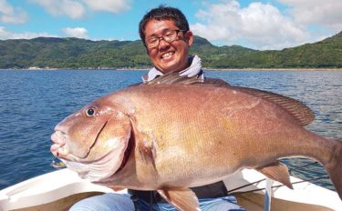 ボートジギングで巨大80cm『コロダイ』をキャッチ【熊本・天草】