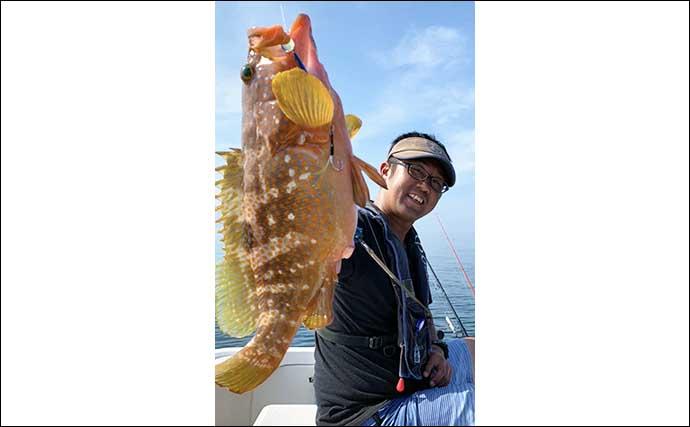 レンタルボートでルアー五目 タイにハタにサメまで浮上【熊本・天草】