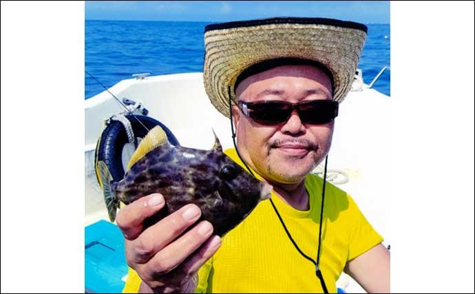 ボートカワハギ釣行でツ抜け達成 『ゼロテン』で連発【愛知・南知多】