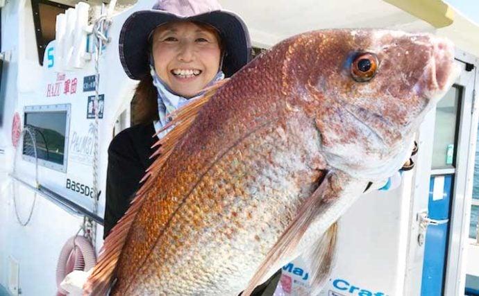 【愛知】沖のルアー釣り最新釣果 タイラバで良型マダイが各地で顔出し