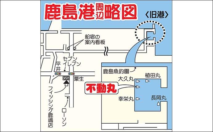 ルアーカツオ船で14尾竿頭 表層早巻きにヒット【茨城・不動丸】