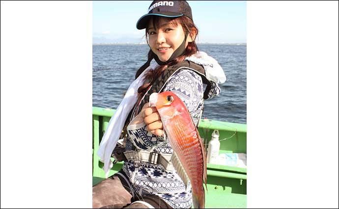 アマダイ五目釣りで50cmオーバー大型本命浮上【神奈川・まなぶ丸】