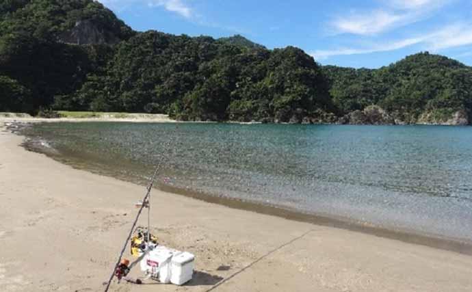 投げキス釣りに『ドローン』を活用 124匹の大漁釣果に【兵庫/鳥取】