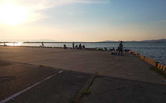 新子タチウオ接岸中 夕マヅメのワインドで60cm級【水軒鉄鋼団地裏】