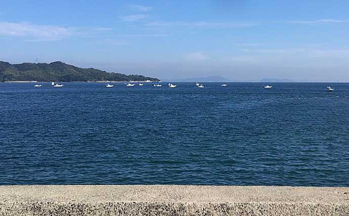 激混みの堤防で青物祭りに参戦 ショアジギ初挑戦でハマチ手中【香川】