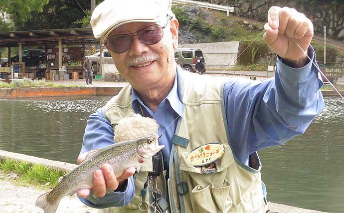 山間の管理釣り場でフライフィッシング ニンフに32cmイワナ【千早川】