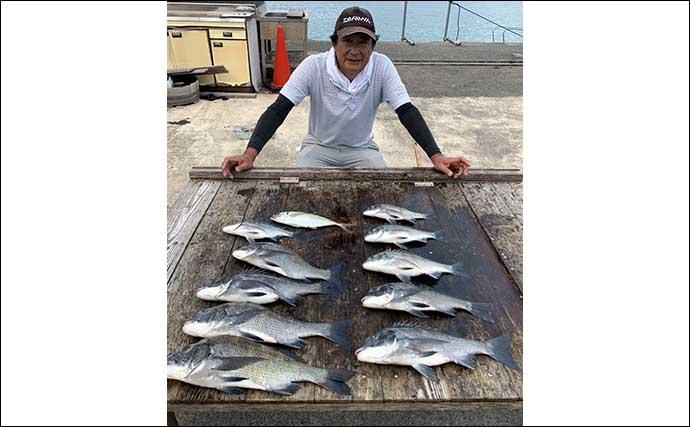 【三重】イカダ&カセ最新釣果 良型マダイにカンパチにクロダイ数釣りも