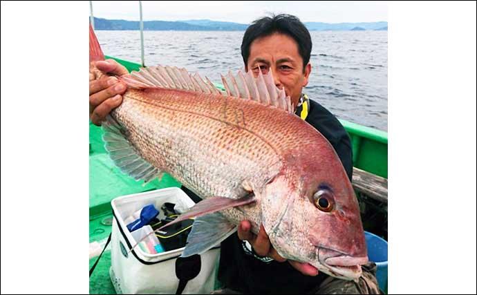 【三重】沖釣り最新釣果 良型マダイに大型アオリにヒラメ大釣りなど