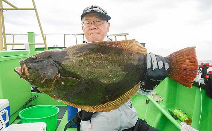 外房ヒラメ釣りで3.8kg頭に9尾 今後は大型に期待大【増栄丸】