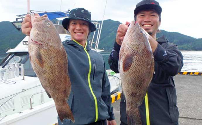 【三重・福井】沖のルアー釣り最新釣果 タイラバで80cm級頭に大型続々