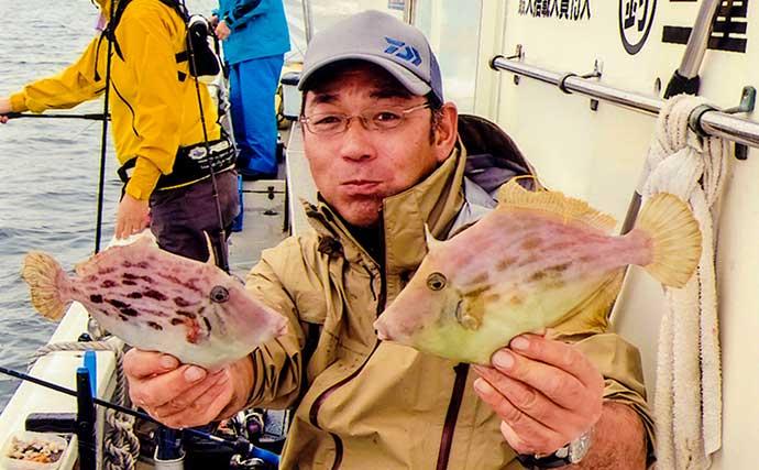 船カワハギ釣りシーズンイン 開幕初日はトップ15匹【三重・第八幸丸】