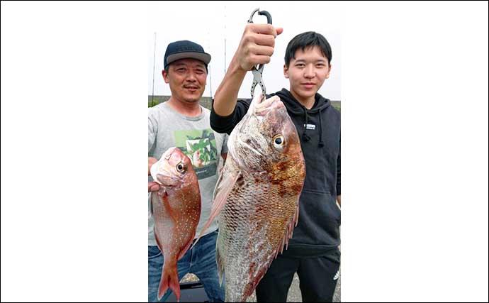 【愛知】沖のルアー釣り最新釣果 タイラバで大型『秋マダイ』顔出し