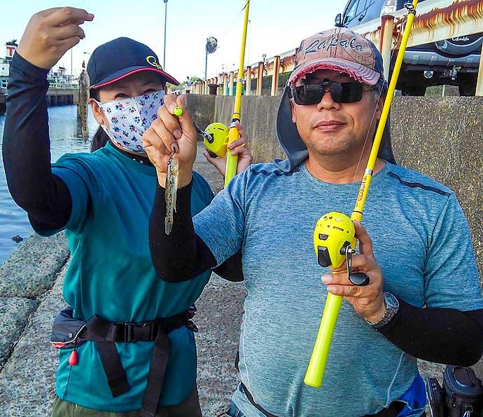 ちょい投げハゼ釣りで70匹手中 初心者用タックルで堪能【霞ケ浦ふ頭】