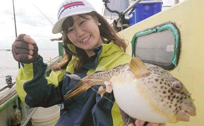 東京湾『ヒガンフグ』釣りが本格始動 良型主体に船中頭17尾【新明丸】