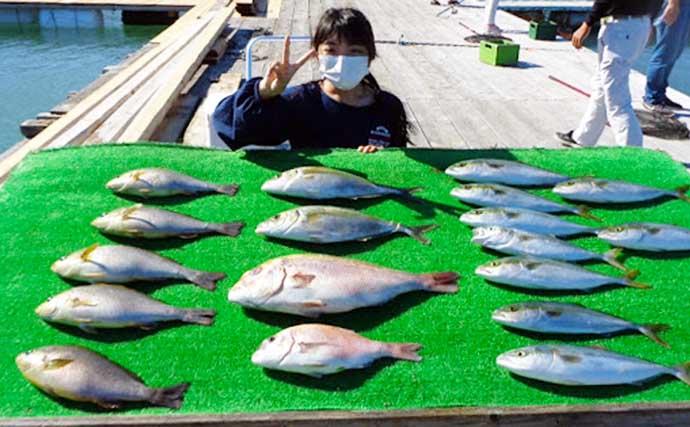 【三重】海上釣り堀最新釣果 短時間コースでもシマアジなど高級魚手中