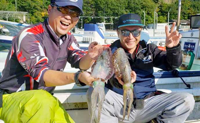 【三重・愛知】沖のルアー釣り最新釣果 ジギングタチウオにエギング好調