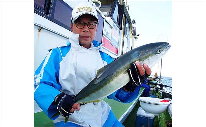 コマセワラサ釣りで3.8kg頭に船中21尾 8kg超マダイも登場【庄幸丸】