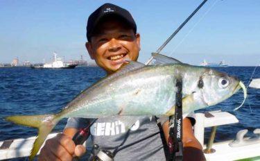 東京湾『バチコンアジング』で41cm頭に良型顔出し【渡辺釣船店】