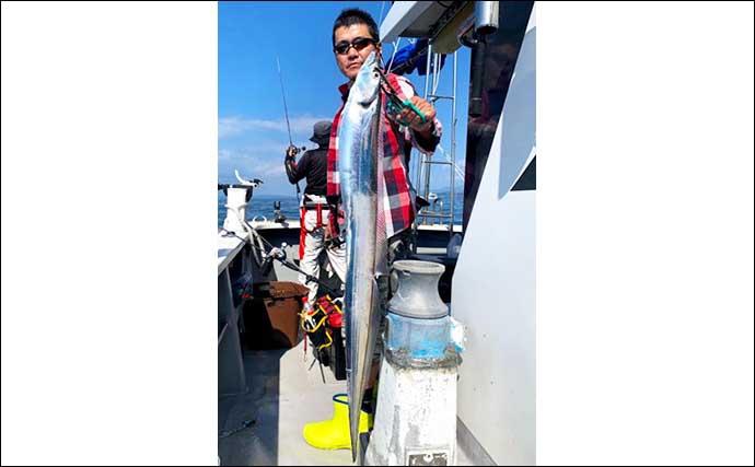 【大分・熊本】沖のタチウオ最新釣果 指8本級筆頭に一人20尾超えも