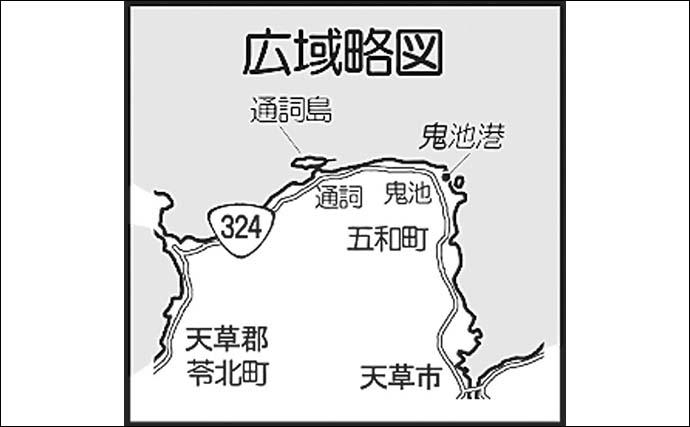 エギングで「新子」アオリイカ ゲストにコウイカ登場【熊本・鬼池港】