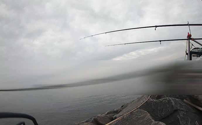 『天然ウナギ』釣りで人生初釣果に歓喜 良型55cm含み2尾【木曽川】