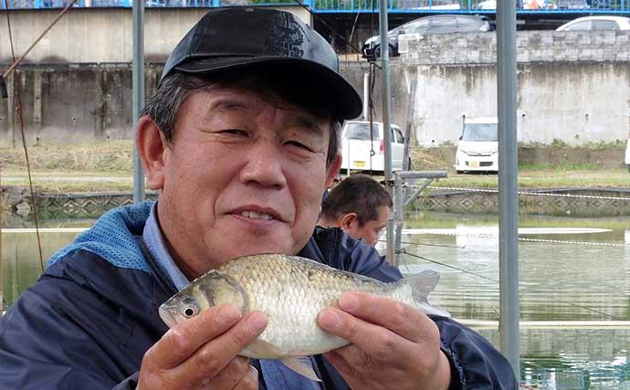 管理釣り場でヘラブナ釣り 風の吹き方で釣果に差?【竜田川釣り池】