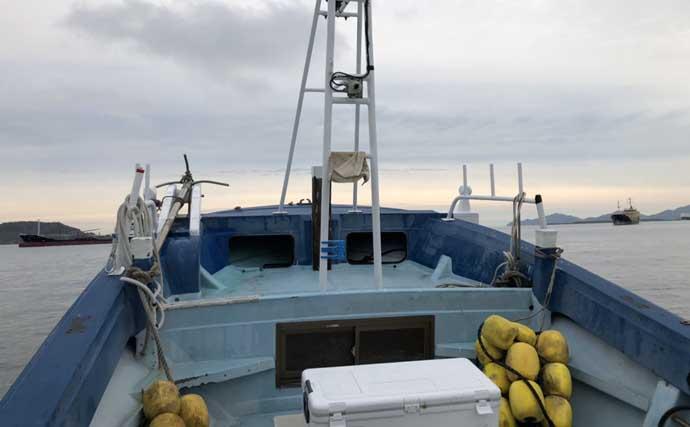 泳がせ釣りで40cmマハタにアコウ 仕掛けにひと工夫が奏功【響灘】