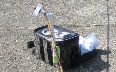 ハゼ釣りをもっと快適に:『渓流用クリール』で竿受け付きクーラー自作