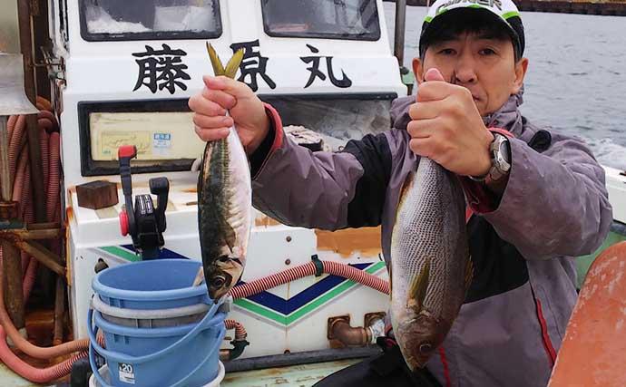 「高道具」での五目釣りでマダイにマアジにイサギ【和歌山・藤原丸】