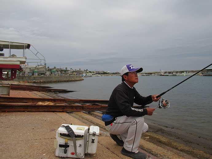 投げ釣りで『落ちギス』狙い 24.5cm頭に良型10匹【江井ヶ島漁港】