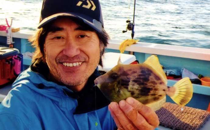 沖の『カワハギ』釣りで同行者全員「ツ抜け」達成【愛知・まとばや丸】