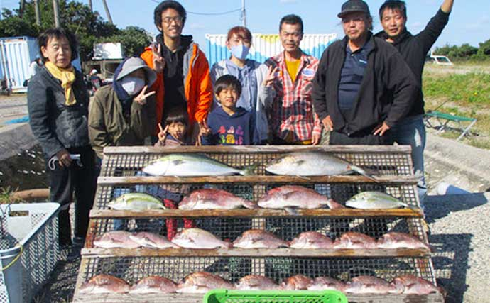 【福井・三重・愛知】海上釣堀最新釣果 一家でマダイ含み20尾超えなど