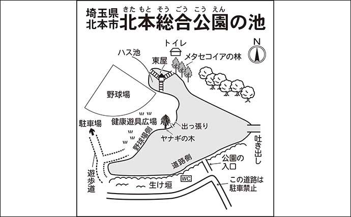 今週のヘラブナ推薦釣り場【埼玉県・北本総合公園】