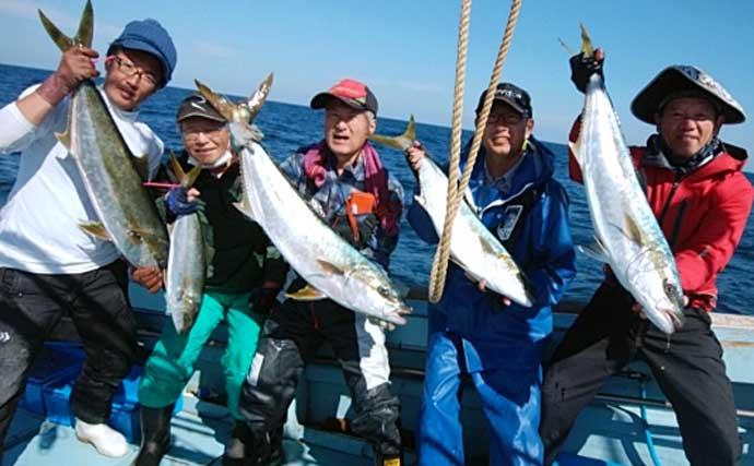 【玄界灘】沖の落とし込み釣り最新釣果 青物の他6kg級『アラ』など