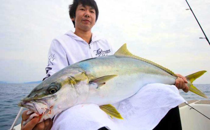 船でのジギングで10kgヒラマサ&60cm級オオモンハタ浮上【シーズナル】