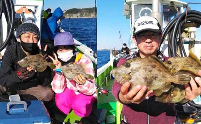週末ナニ釣れた?沖釣り速報:良型含み『カワハギ』全員安打【相模湾】