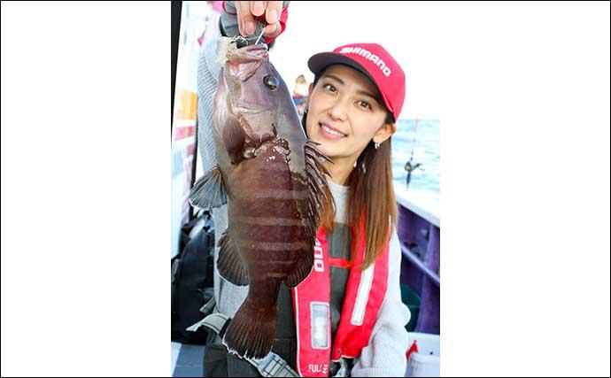 外房テンヤマダイ釣りで笑顔 4kg級大型ゲストの正体とは?【つる丸】