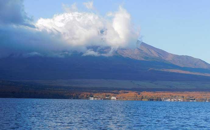 山中湖でボートワカサギ釣り 底層の拾い釣りで555尾【丸一荘】