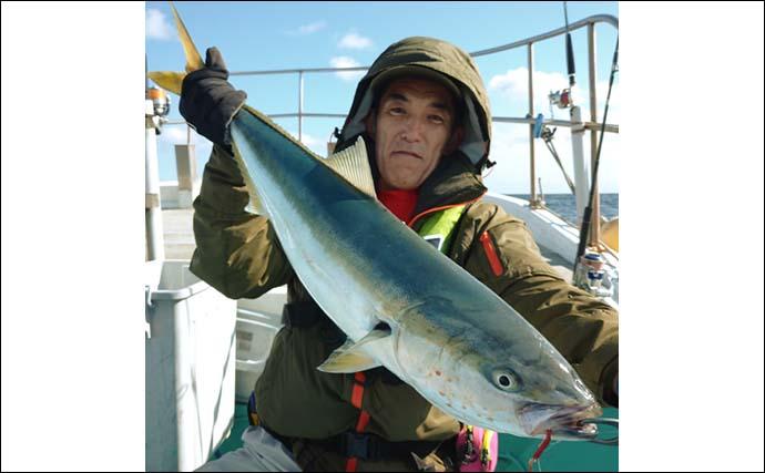 常磐沖ジギングで4kg超ワラサ 好ゲストにヒラメ&根魚【釣友丸】