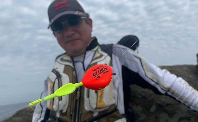 磯フカセ釣行でイサキ&グレ好捕 上り潮で一投一匹ペース【和歌山】