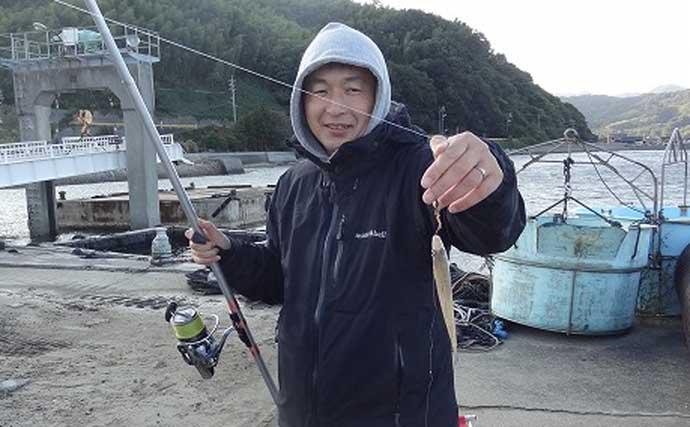 『ドローン』活用したちょい投げ釣りでシロギス125匹【周防大島】