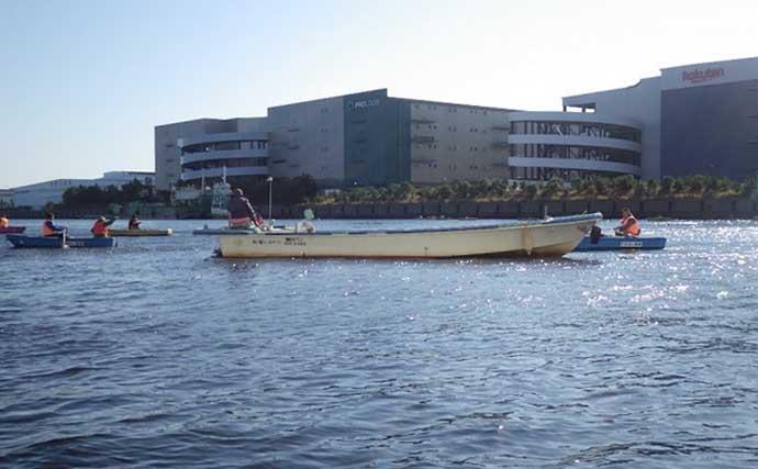 江戸川放水路で『落ちハゼ』釣り 深場狙いで良型71匹【たかはし遊船】