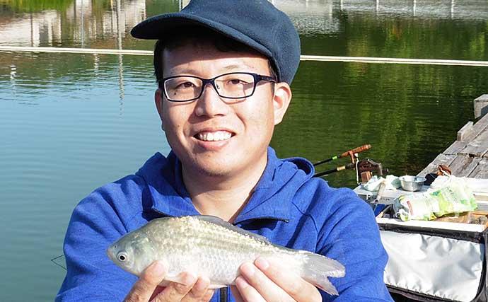 管理釣り場でヘラ釣り 思いつきのエサブレンドが奏功【竜田川釣り池】