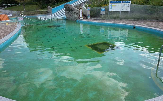 流れるプール利用した釣り堀『服部緑地ウォーターランドFP』がオープン