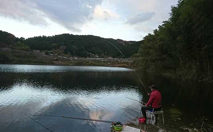 冬のダム湖で40cm級ヘラ連発 小アタリに全集中【奈良・布目ダム】