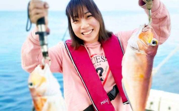 【福岡】沖釣り最新釣果 エビラバや五目釣りで良型アマダイが好調